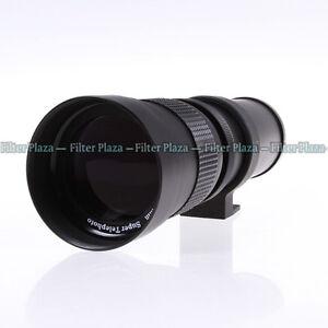 420-800mm F/8.3-16 Telephoto Zoom Lens +T Mount for Nikon D7100 D7200 D750 D5500