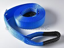 """3"""" 26000Lbs 12Ton Tow Strap 3x20 ft Winch Snow Mud Pull Recovery Truck SUV Jeep"""