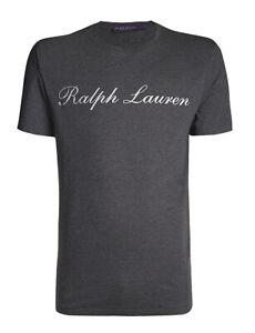 Ralph Lauren Purple Label Short Sleeve Cotton Jersey Logo Graphic Tee T Shirt