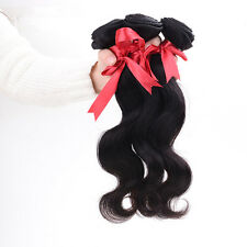3 Bundles Indian Body Wave Virgin Human hair extensions 100% Unprocessed weaving