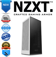 NZXT White H1 Tempered Glass Mini ITX Case with 650W PSU, AIO and Riser Card