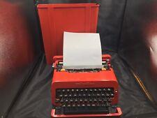 Vintage Olivetti valentine s Red Typewriter 1968 w/Case Design Ettore Sottsass