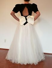 80's Vintage Runway Sample - Velvet top with tulle - ball gown