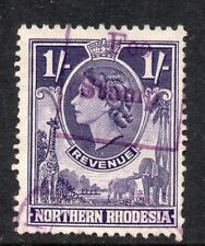 "1955 Northern Rhodesia Bft:19 1/- Purple. Very Fine "" FEE STAMP ""Revenue Used."