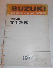 1971 71 SUZUKI T125 T 125 PARTS CATALOG SHOP SERVICE REPAIR MANUAL Catalogue II
