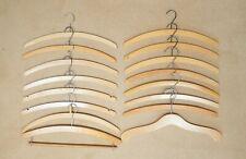 Bundle Lot of 16 Vintage Wooden Coat Hangers Clothes Adult Size