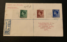 1936 Edward Viii Definitives Great Britain FDC Registered A36 Manor Park London