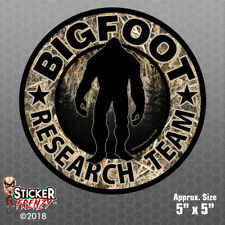 "Bigfoot Research Team ""CAMO"" Sticker - Sasquatch Yeti Car Truck Window Decal"