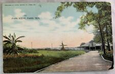Antique Postcard 1912 Park Scene Paris Texas
