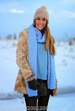 Zara Blu cielo Sciarpa lavorata a maglia nuovo con etichetta