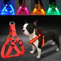 Pet Dog Light Bulb Flashing Nylon Artificial Dog LED Light Safe Rope Pet Collar
