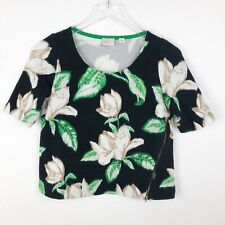 Anthropologie Postmark Crop Top Size Xsmall Stretch Knit Blouse Short Sleeve