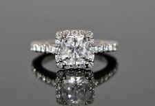 $5,800 Tacori 18K White Gold Round Diamond Full Bloom Engagement Ring Band Sz 4