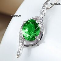 Emerald Green Necklace Women Presents for Her Daughter Girlfriend Mother J398A
