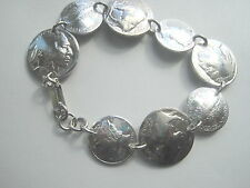 Antique Buffalo/ Indian nickel and silver Mercury dime bracelet