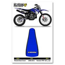 2008-2016 YAMAHA TTR 125 L-LE Black/Blue PLEATED SEAT COVER BY Enjoy Mfg