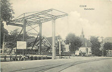 Vintage Postcard Edam Westerbuiten Bridge The Netherlands Holland