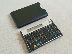 "Vintage Hewlett Packard HP 11C Calculator, with sleeve, rare ""bug"" unit, read"