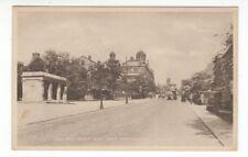 Postcard. Albert Road and War Memorial, Colne