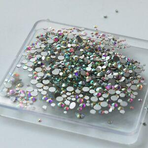 1440pcs Crystal Rhinestones Flat Back Loose Diamante Glass Gems Nail Art Crafts
