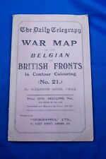 DAILY TELEGRAPH WAR MAP OF THE BELGIUM AND BRITISH FRONTS NO. 21