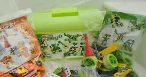 Meccano Easy green orange Construction Tub Set 1 &.2 &.extra bundle Manual