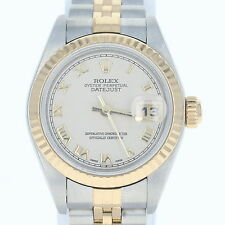 Rolex Oyster Perpetual Datejust Watch - Stainless Steel 18K Gold Women's 79173