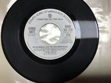 Oldstock mint Pomo  45 from 1973 Bonnie raitt stereo/mono 1973 you've been