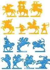 Soviet Era Mongols vs Russian Knights - 54mm half round unpainted plastic
