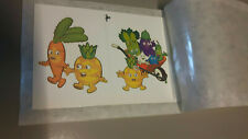 6 x 2  tattoos ,Tatouages ( décalcomanie) Légumes / groenten / vegetables 5 x 5