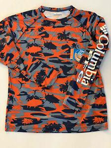 Columbia PFG Mens S Solar Shade Long Sleeve L/S Fishing Shirt Camo NWT UPF 50