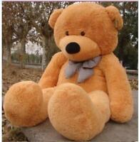 56''/140cm light brown Teddy Bear Giant Huge Big Stuffed Animal Plush Soft gift