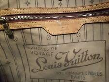Borsa donna Louis Vuitton modelloNeverfull beige in buone condizioni originale