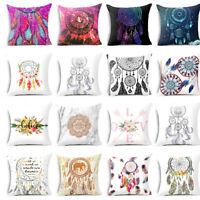JW_ Colorful Dream Catcher Pillow Case Home Sofa Decoration Cushion Cover Uniq
