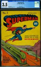 Superman #3 [1940] Certified 3.5 FLYING HIGH