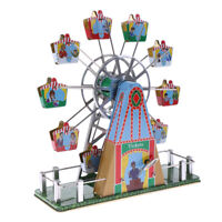 Retro Mechanical Wind-up Musical Ferris Wheel Clockwork Tin Toy Crafts