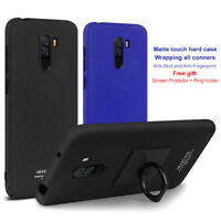 IMAK For Xiaomi Pocophone F1, Matte Hard Case Cover Kickstand + Screen Protector