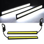 2x DC12V Super Bright White COB Car LED Lights DRL Fog Driving Lamp Waterproof
