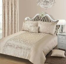 Luxury Jacquard Shimmer Natural Duvet Cover Bedding Set With Pillowcases