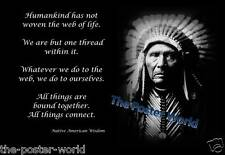 NATIVE AMERICAN INDIAN WISDOM QUOTE MOTIVATIONAL PICTURE POSTER HOME ART PRINT