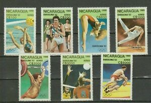 NICARAGUA 1989 Airmail - Olympic Games - Barcelona, Spain 1992. NUEVO - MNH **