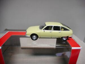 CITROEN GS 1970 PRIMEVERE YELLOW NOREV 3 INCHES 1:64 APX