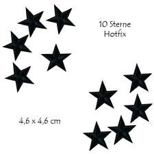 Bügelbild  10 Sterne  Hotfix Applikation für Ihre Textilien,  Schwarz