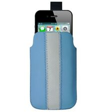 Funda hTC EXPLORER Desire S WildFire Radar Legend Hero Salsa Cuero LIÑA AZUL