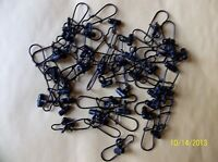 FISHING LINE SINKER SLIDES 30 PIECES BLACK HEAVY DUTY GOOD FOR BRAID USA MADE