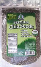 1 POUND CERTIFIED ORGANIC Premium Black Chia Seed Get Seeds Gluten-Free Non-Gmo