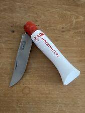 Rare couteau opinel n°8 jeux olympiques d'Albertville virole rouge Série Limité