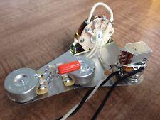 Fender Stratocaster Wiring Push/Pull Coil Split .022 Orange Drop Treble Bleed