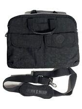 Kipling Messenger Travel Crossbody Laptop Bag, black Nylon