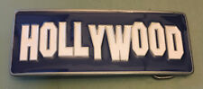 "HOLLYWOOD SIGN BUCKLE NEW APPROXIMATELY 4 1/2"" X 1 3/4"""